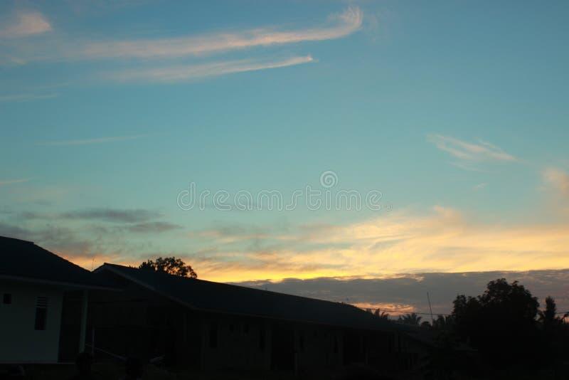 惊人视图在天空能看 免版税库存照片