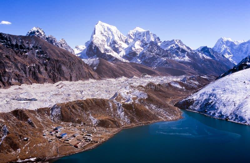 Gokyo喜马拉雅山尼泊尔 免版税图库摄影