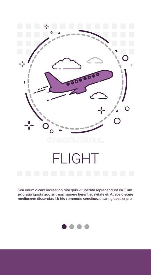 惊吓飞机票网上售票服务横幅 库存例证