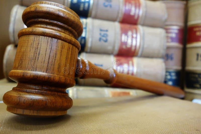 惊堂木和法律 库存图片