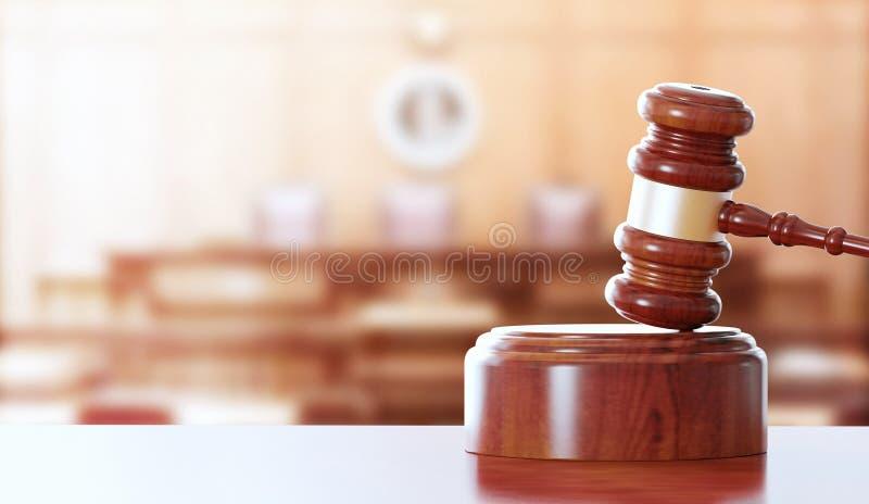 惊堂木或锤子法官的,法官 免版税图库摄影