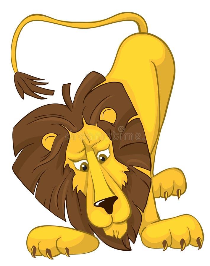 惊奇的狮子 向量例证