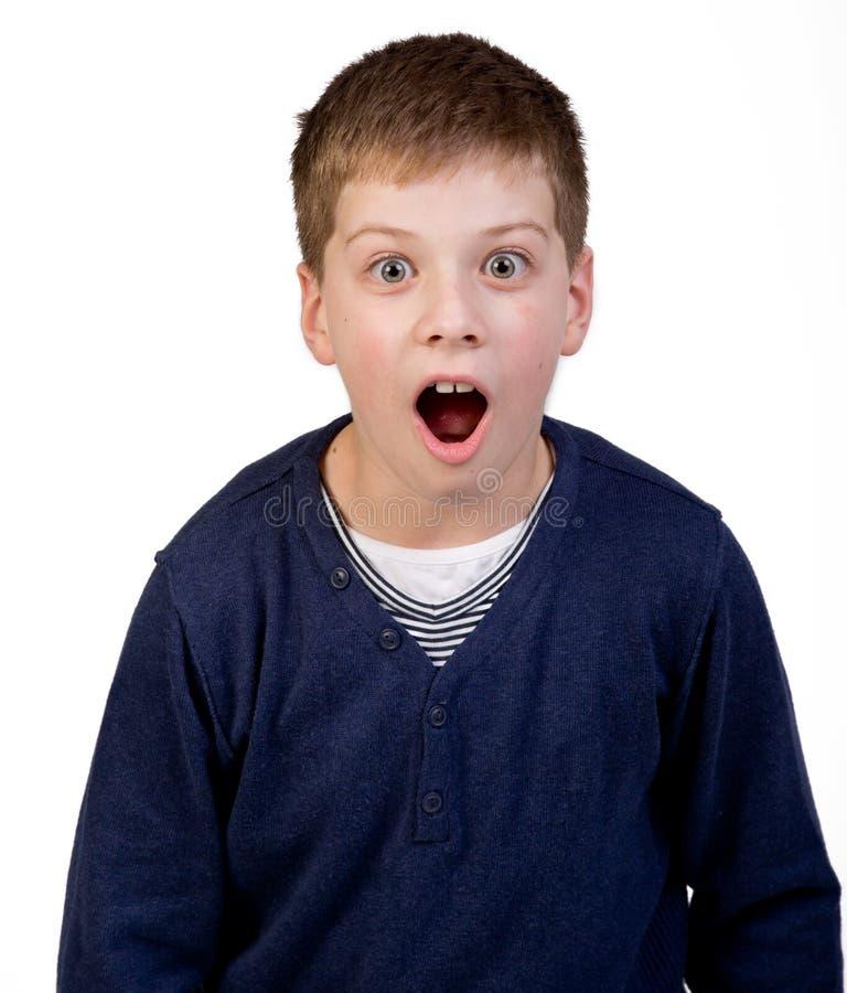 惊奇的男孩 免版税图库摄影