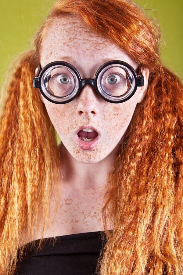 惊奇的讨厌的女孩 免版税库存照片