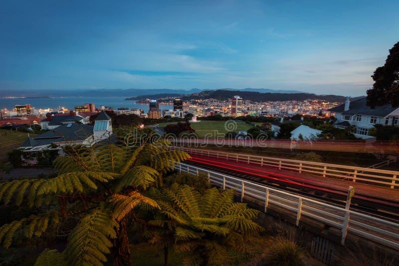 惠灵顿缆车新西兰 库存图片