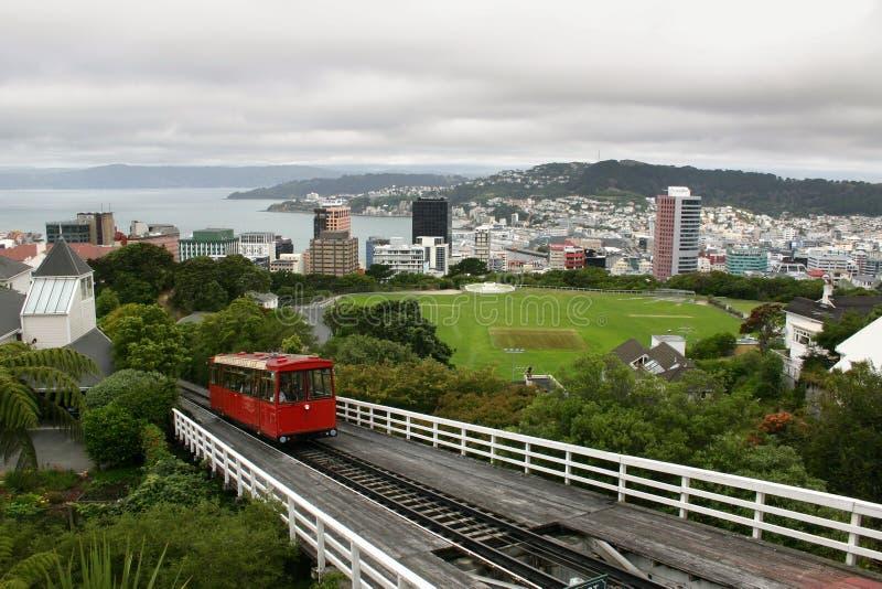 惠灵顿缆车,新西兰 库存图片