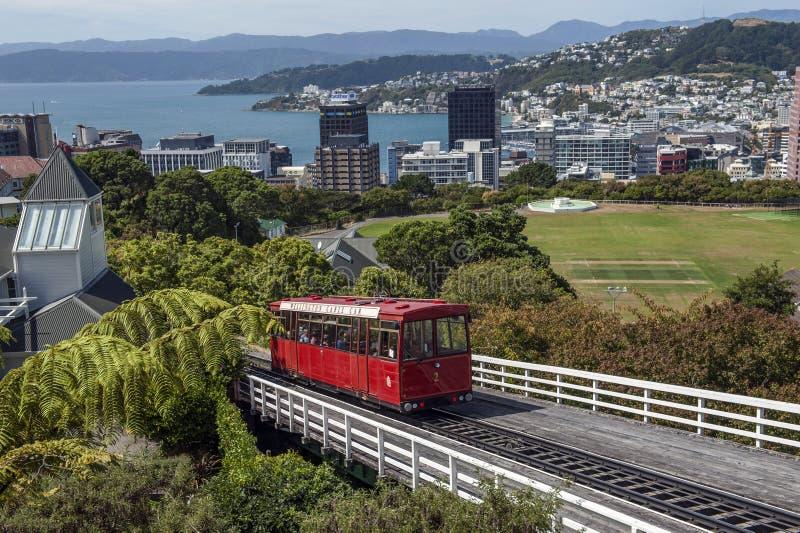 惠灵顿缆车,新西兰 免版税库存图片