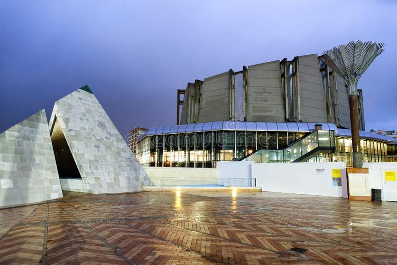 惠灵顿,新西兰- 2018年9月4日:新的Zeala博物馆  免版税库存图片