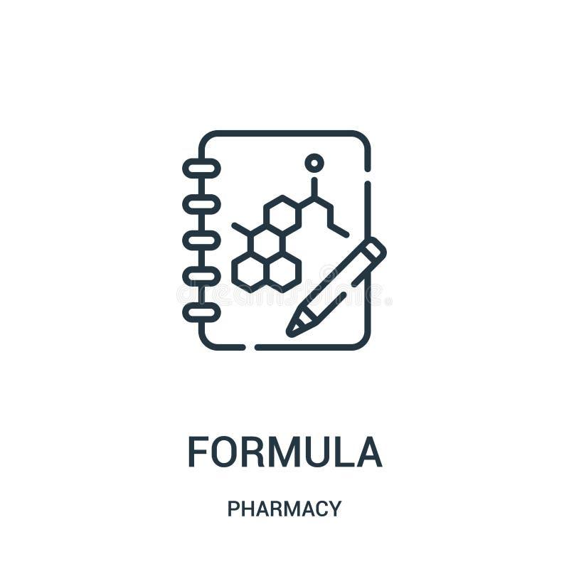 惯例从药房汇集的象传染媒介 稀薄的线惯例概述象传染媒介例证 库存例证