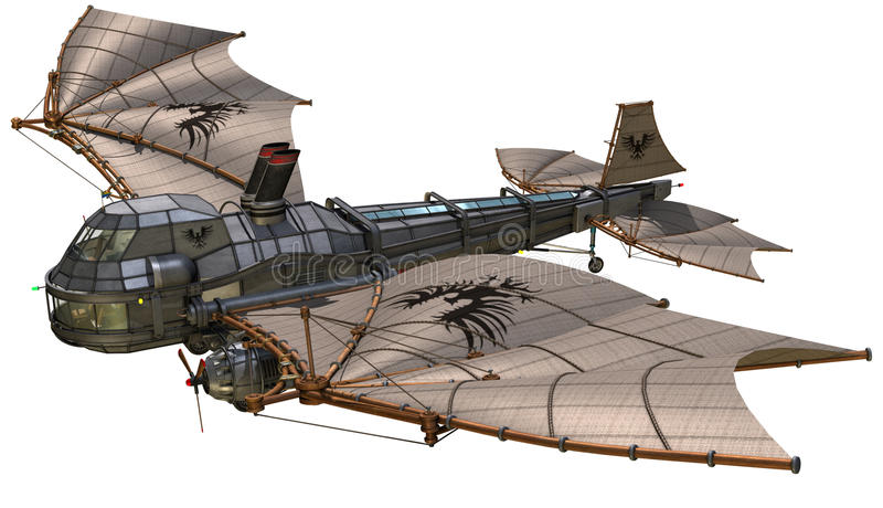 幻想减速火箭的飞艇 皇族释放例证