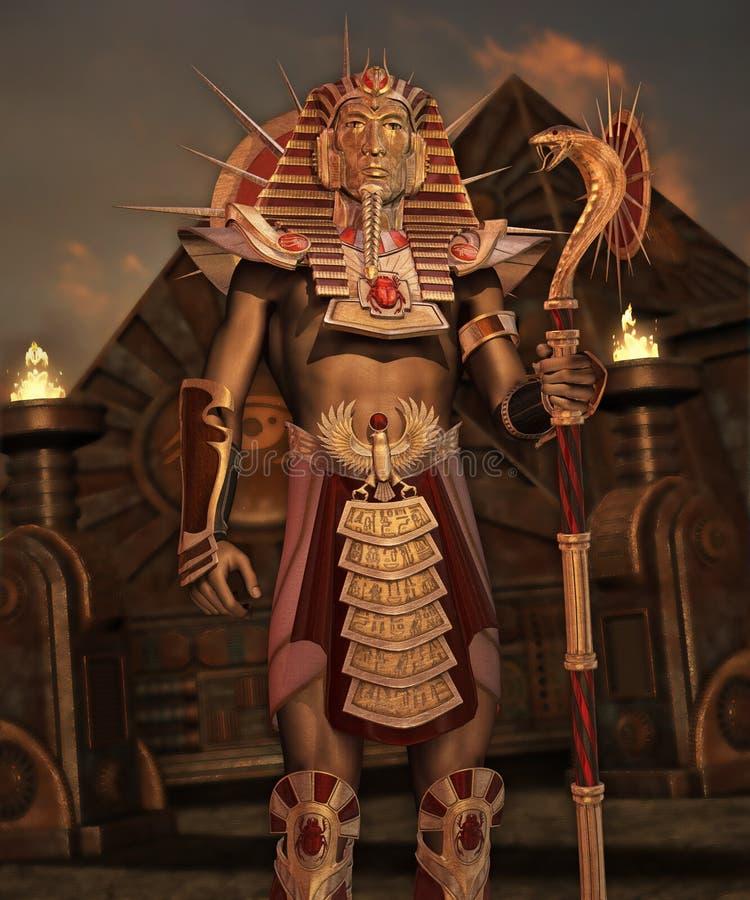 幻想古老埃及人 向量例证