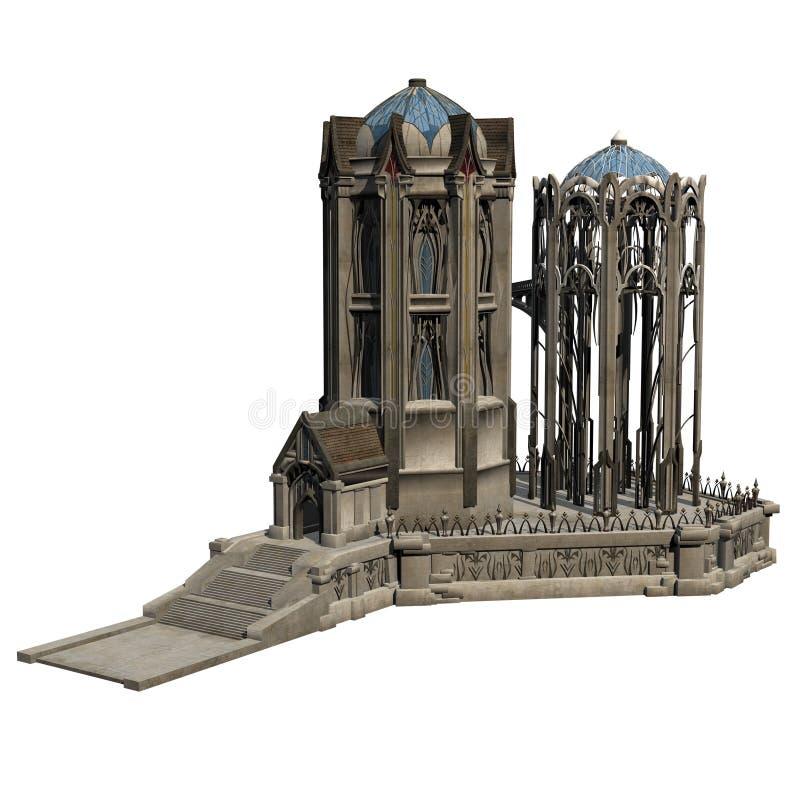 幻想城堡 皇族释放例证