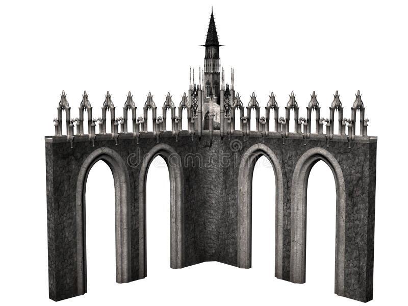 幻想城堡 向量例证
