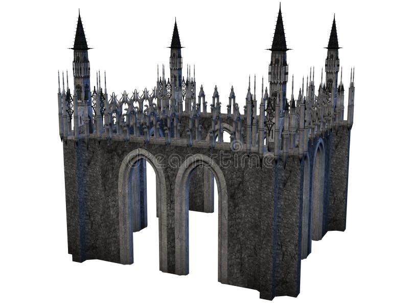 幻想城堡 库存例证