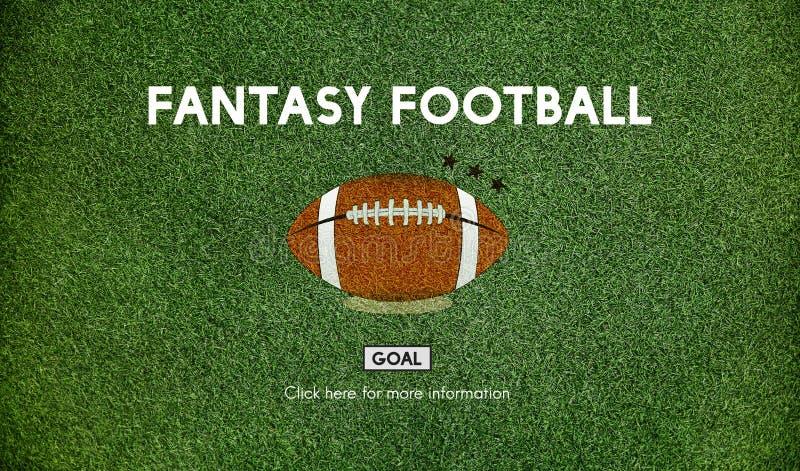幻想橄榄球球橄榄球赛概念 向量例证