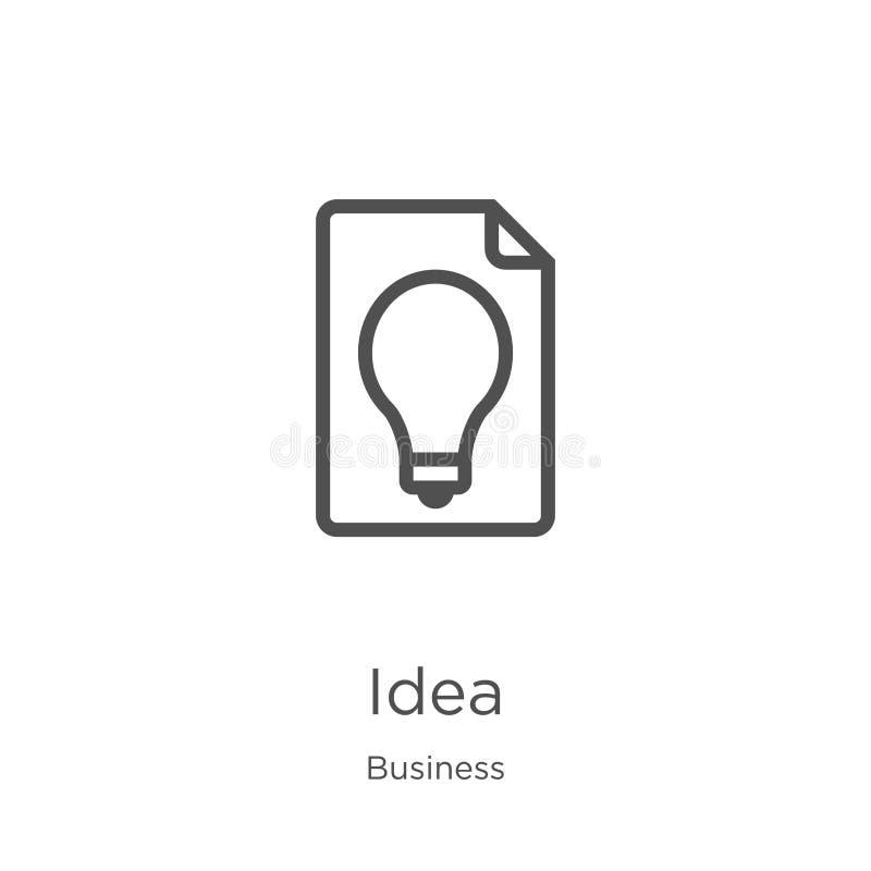 想法从企业汇集的象传染媒介 稀薄的线想法概述象传染媒介例证 概述,稀薄的线想法象为 库存例证