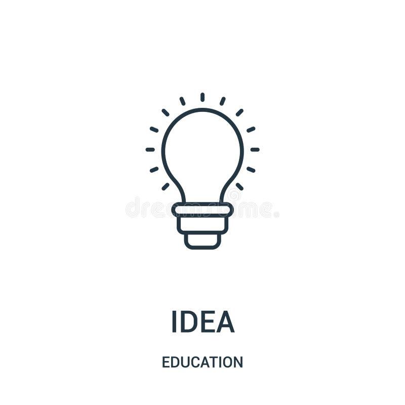 想法从教育汇集的象传染媒介 稀薄的线想法概述象传染媒介例证 向量例证