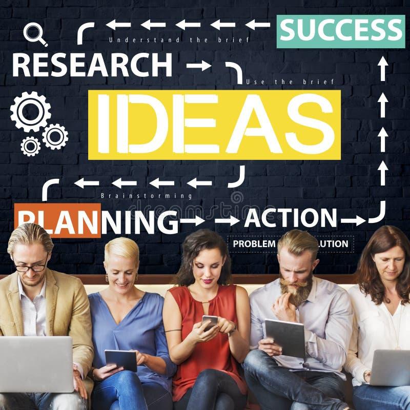 想法企业规划流程图概念 免版税图库摄影