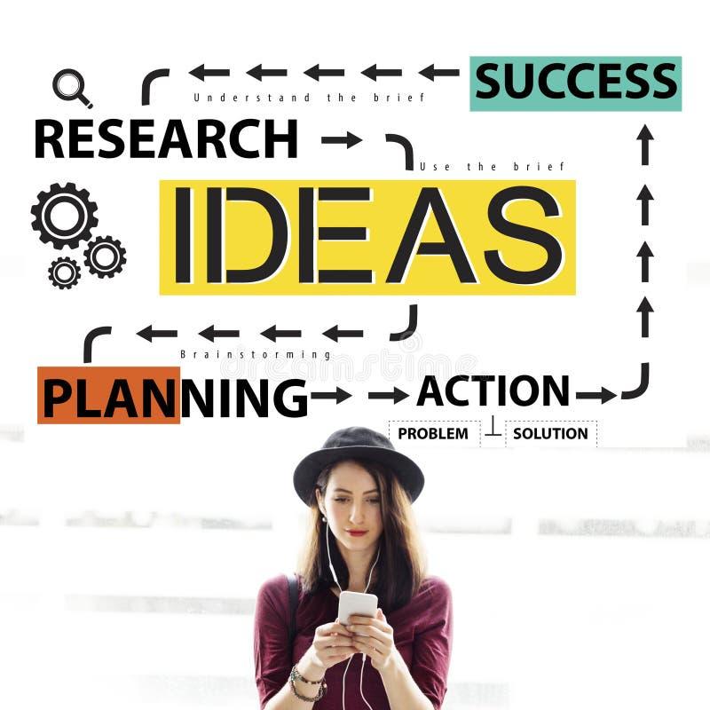 想法企业规划流程图概念 图库摄影