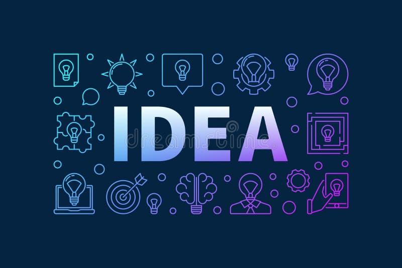想法创造性的五颜六色的设计 向量例证