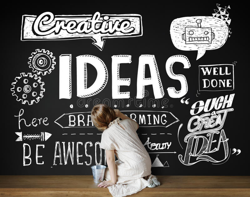 想法启发创造性思为刺激概念 免版税库存照片