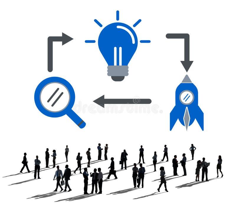 想法启发想象力视觉创新概念 库存例证