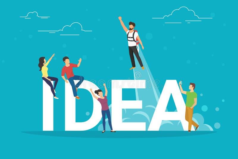 想法商人的概念例证作为队的 库存例证