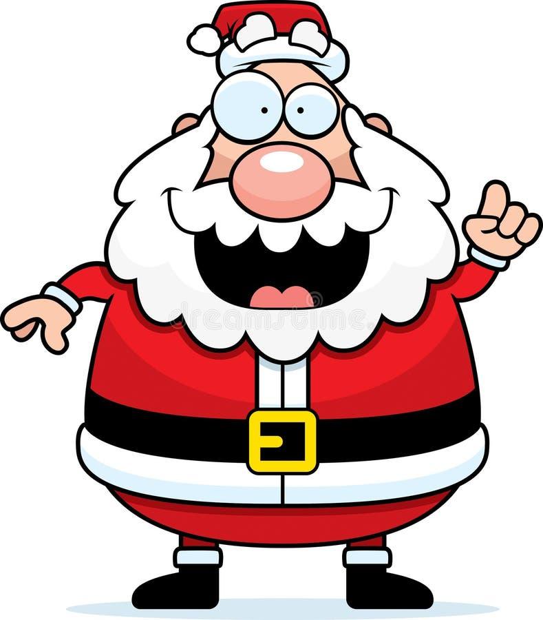 想法圣诞老人 库存例证