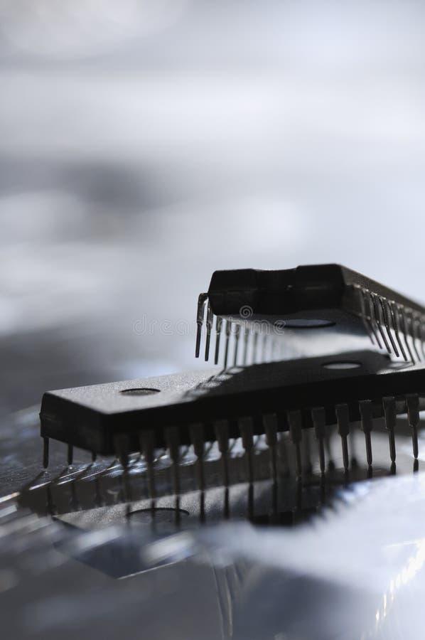 想法微芯片 免版税图库摄影