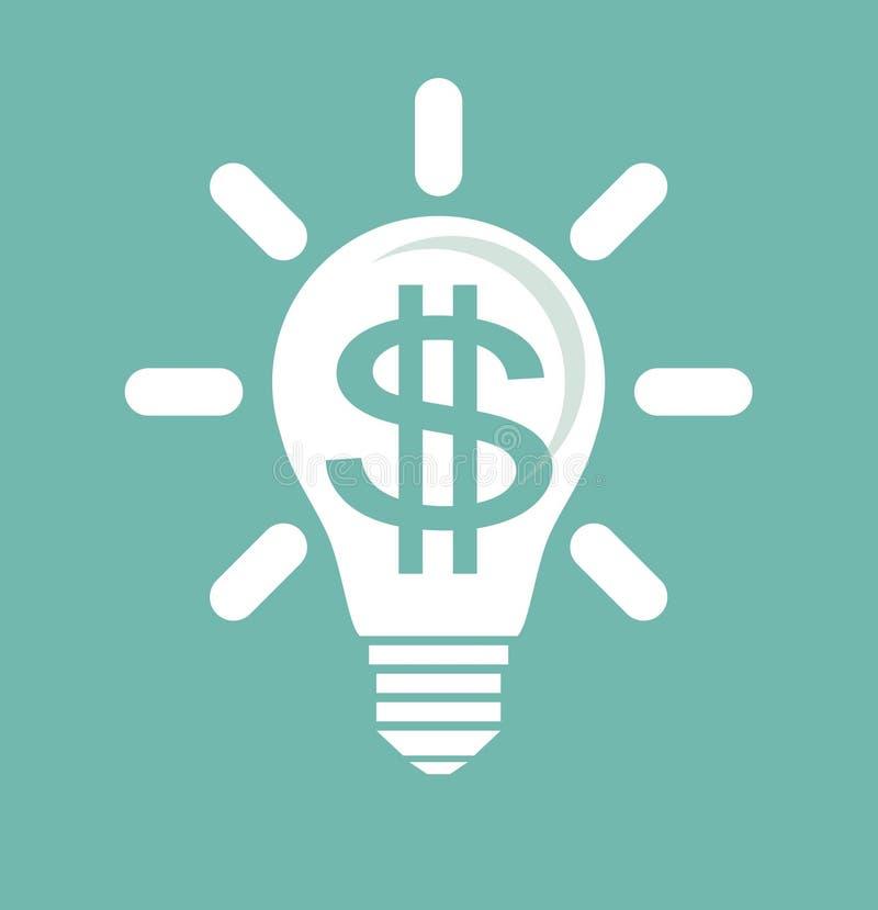想法挣金钱 向量例证
