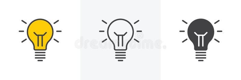 想法灯象 向量例证