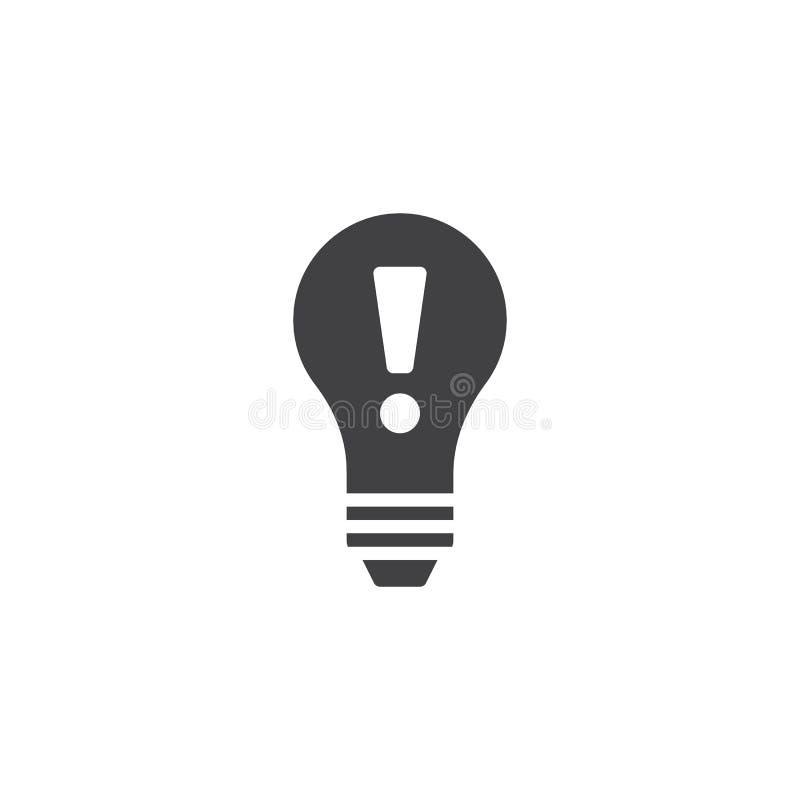 想法电灯泡象传染媒介 向量例证