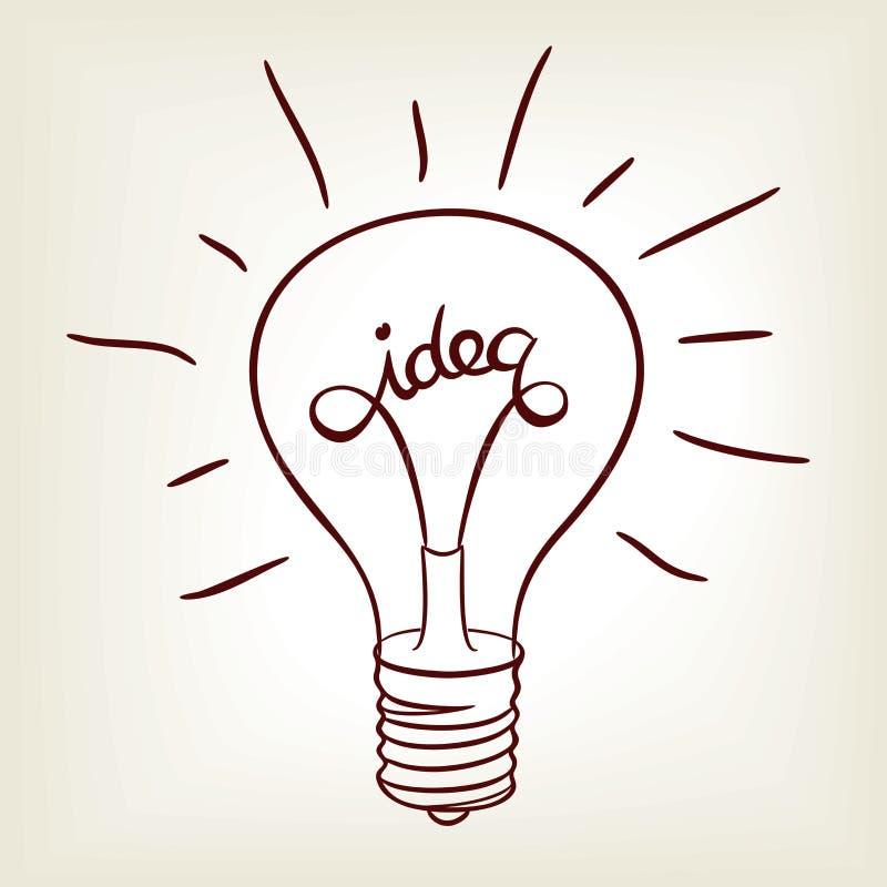 想法电灯泡 皇族释放例证