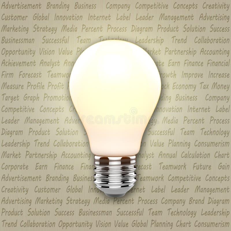 想法电灯泡 向量例证