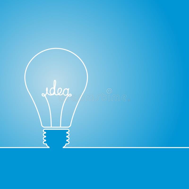 想法电灯泡 库存例证