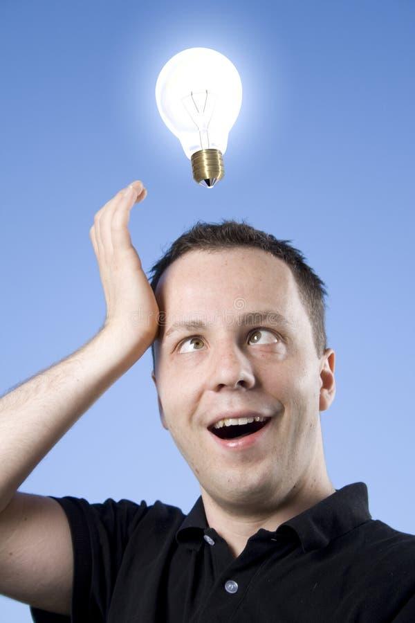 想法电灯泡 库存图片