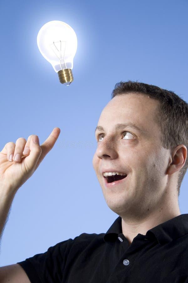 想法电灯泡 免版税库存照片