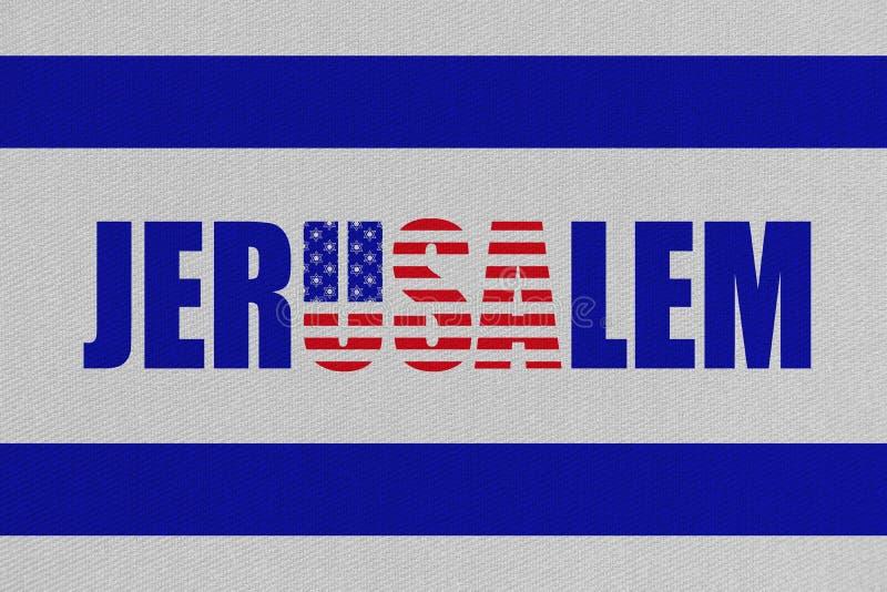 想法的例证搬到美国使馆耶路撒冷,以色列的新的首都 库存例证