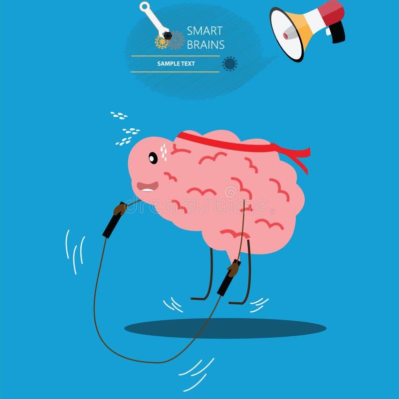 想法的处理概念,激发灵感,好想法,脑子healt 库存例证