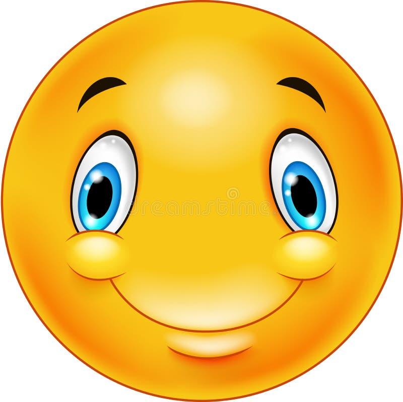 想法的意思号面带笑容 向量例证