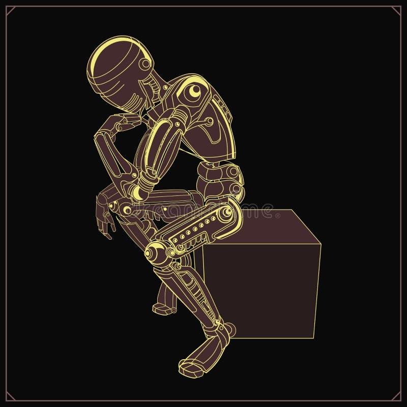 想法的机器人的传染媒介例证 皇族释放例证