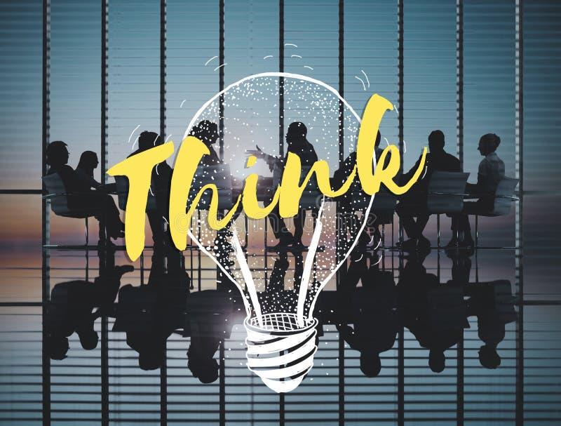 想法突发的灵感创造性的计划成功概念 免版税库存图片