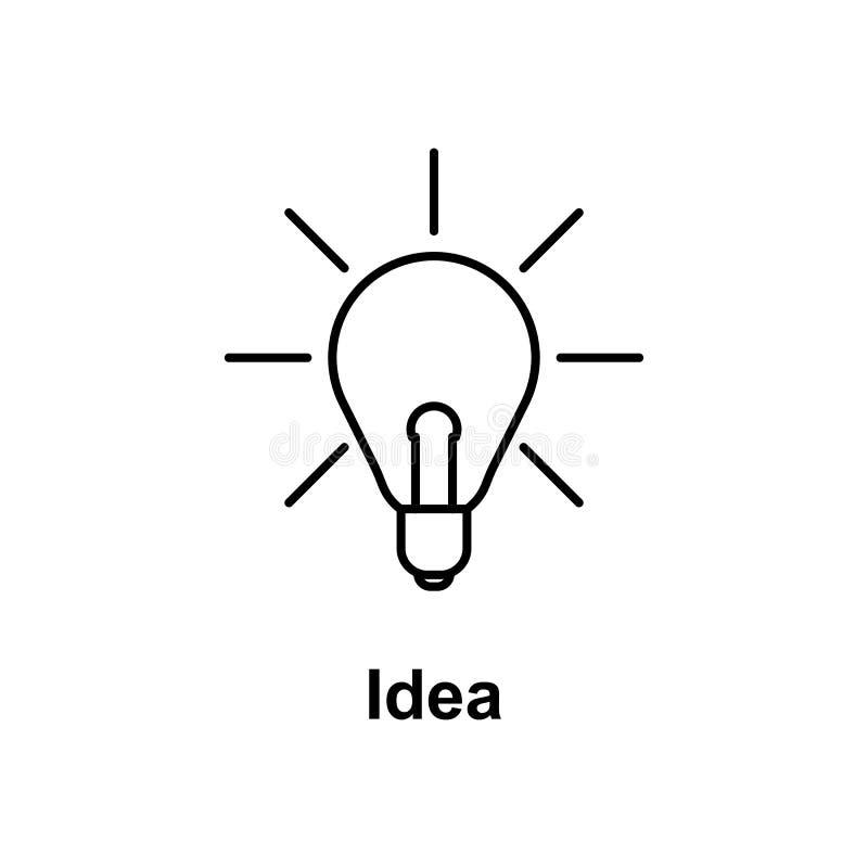 想法象光  学校象的元素流动概念和网apps的 网站设计和发展的, ap稀薄的线象 向量例证