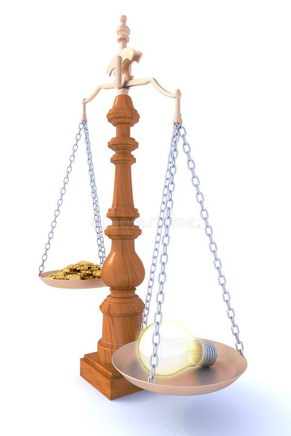 想法贵重物品 向量例证
