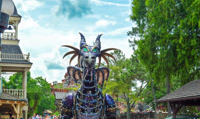 从幻想游行节日的有害龙  库存图片