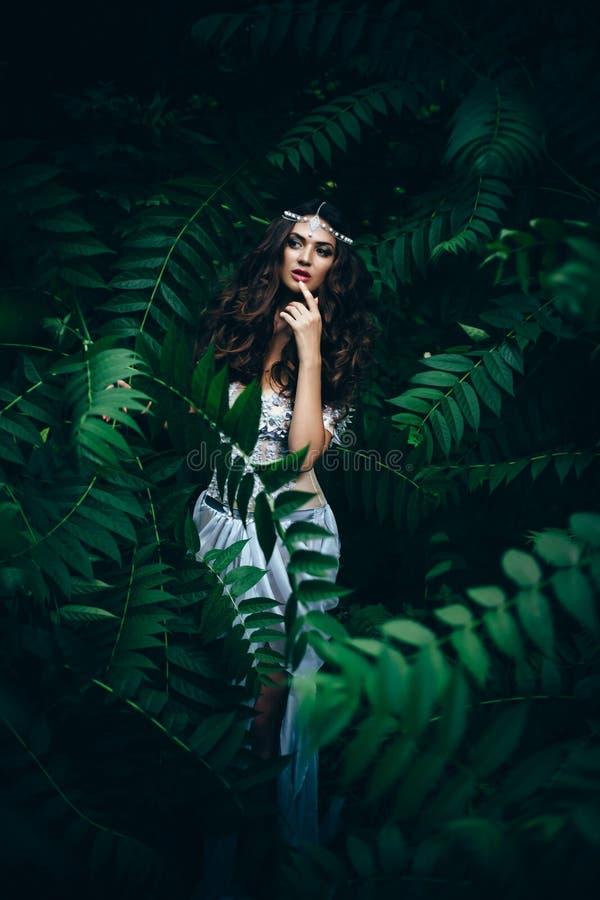 幻想神仙在神奇森林里 免版税库存照片