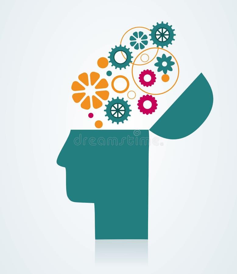 想象力和想法 库存例证