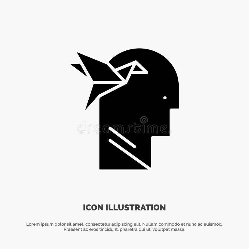 想象力形式,想象力,头,布赖恩坚实纵的沟纹象传染媒介 皇族释放例证