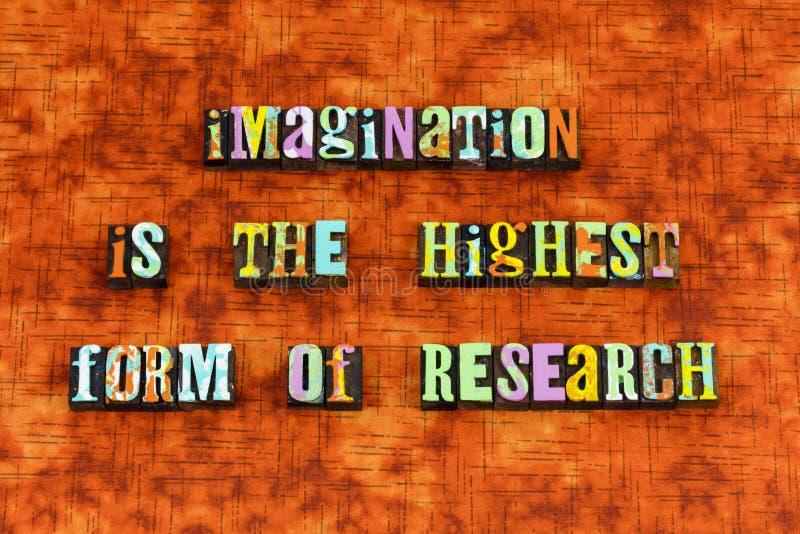 想象力相信达到创造启发 免版税图库摄影