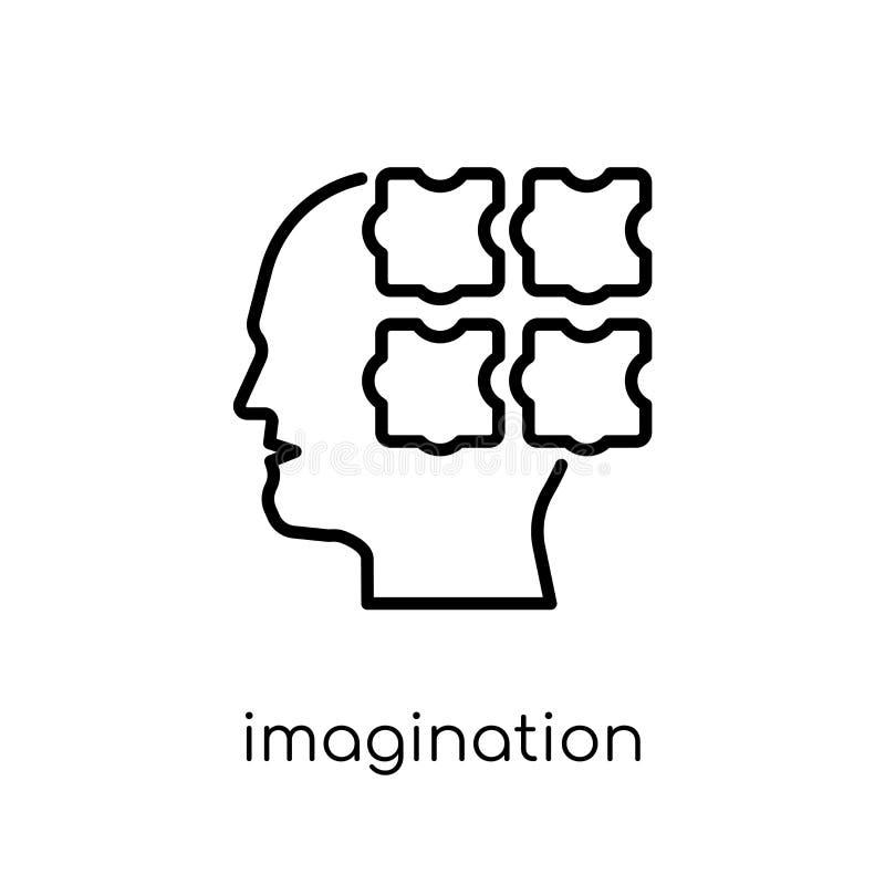 想象力象 时髦现代平的线性传染媒介想象力我 库存例证